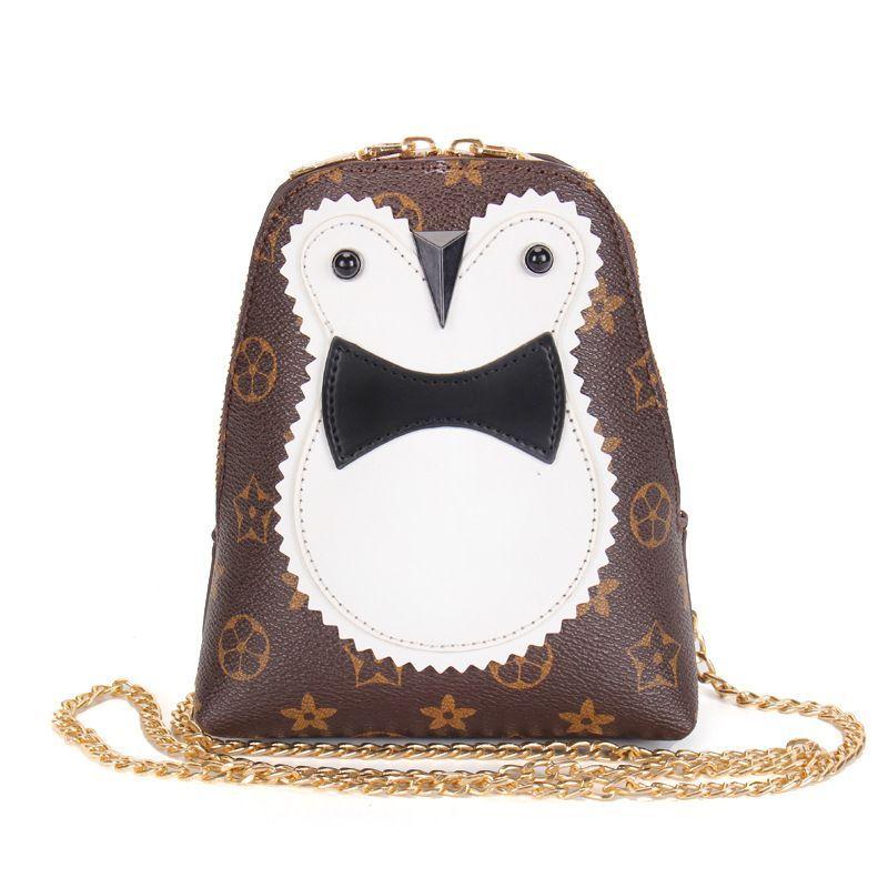 Hot Girls Popular Leather Handbags Cartoon Crossbody Bag Owl ...