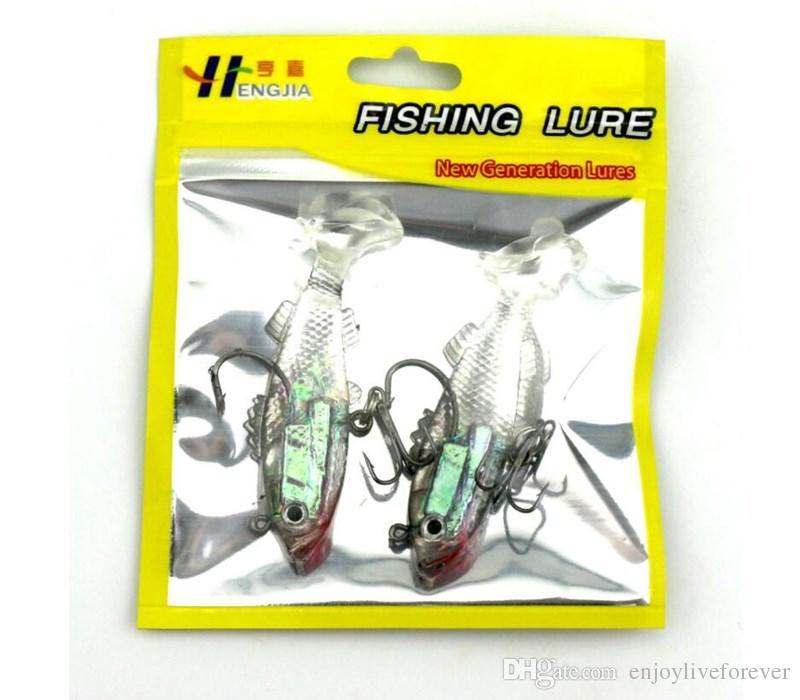 Fishing Gear 8.5cm 17.4 Gram Jig Head Soft Plastic Fishing Lures or Lifelike Swimbaits for Saltwater