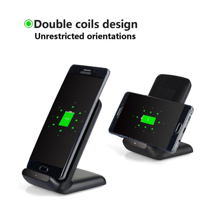 Для Samsung S8 100% быстрая зарядка Qi Беспроводное зарядное устройство Pad Для Samsung Galaxy S6 edge plus / Note5 / S7 / S8 edge