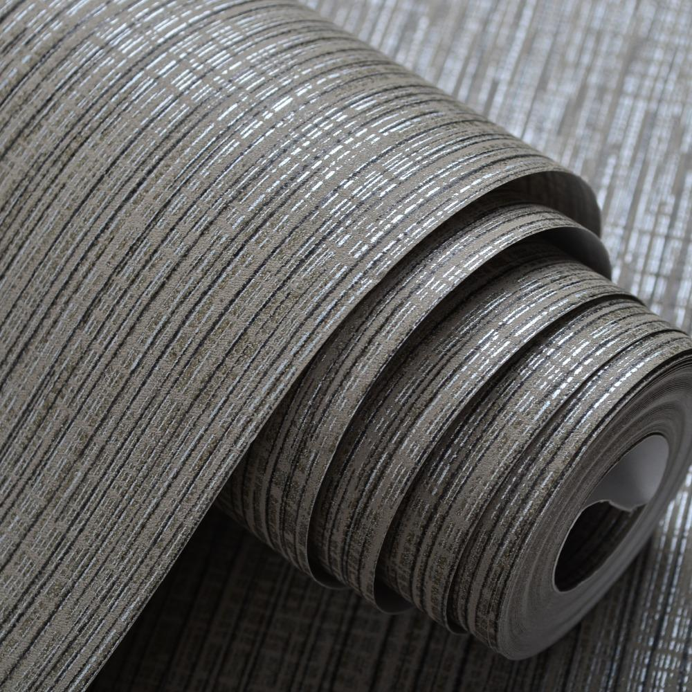 Satın Al Toptan Satış Iç Tasarım Gri Gümüş çizgili Duvar Kağıdı