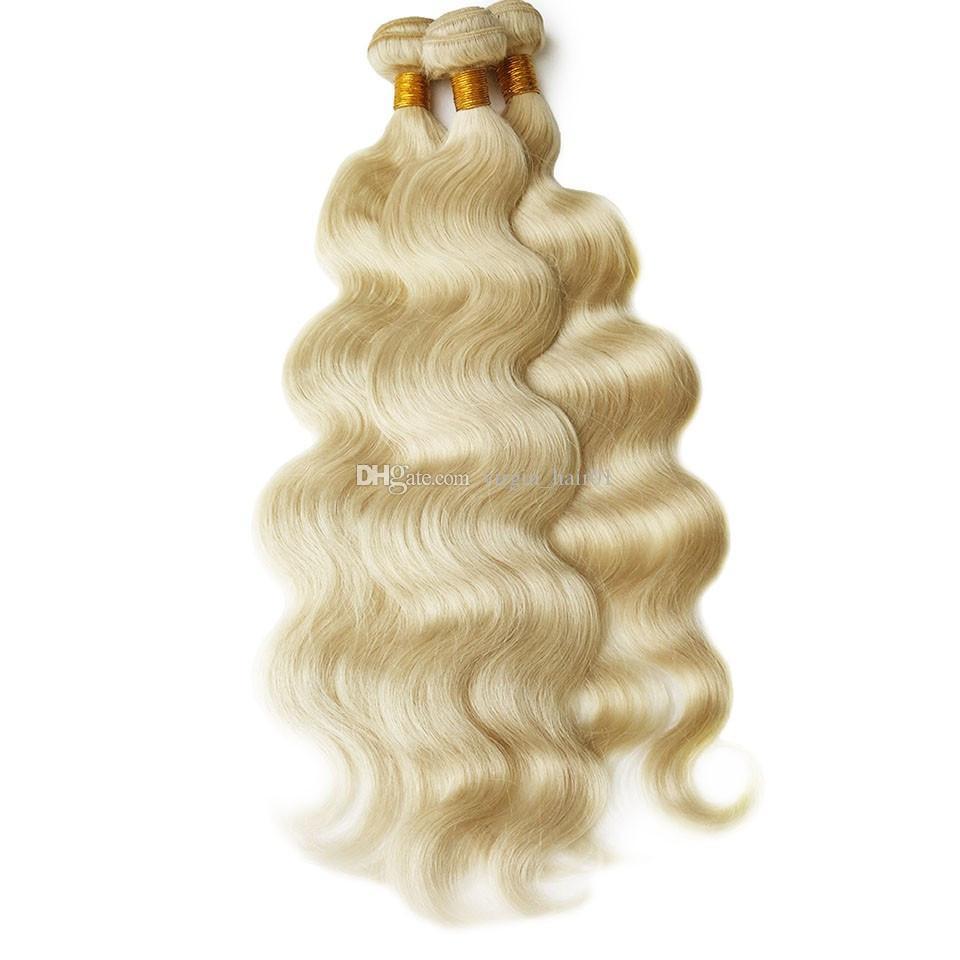 Base de seda rubia 360 Frontal del cordón con los paquetes de pelo humano brasileño Frontal del cordón del tejido 4 * 4 Base de seda 360 cierre con el pelo de la onda del cuerpo