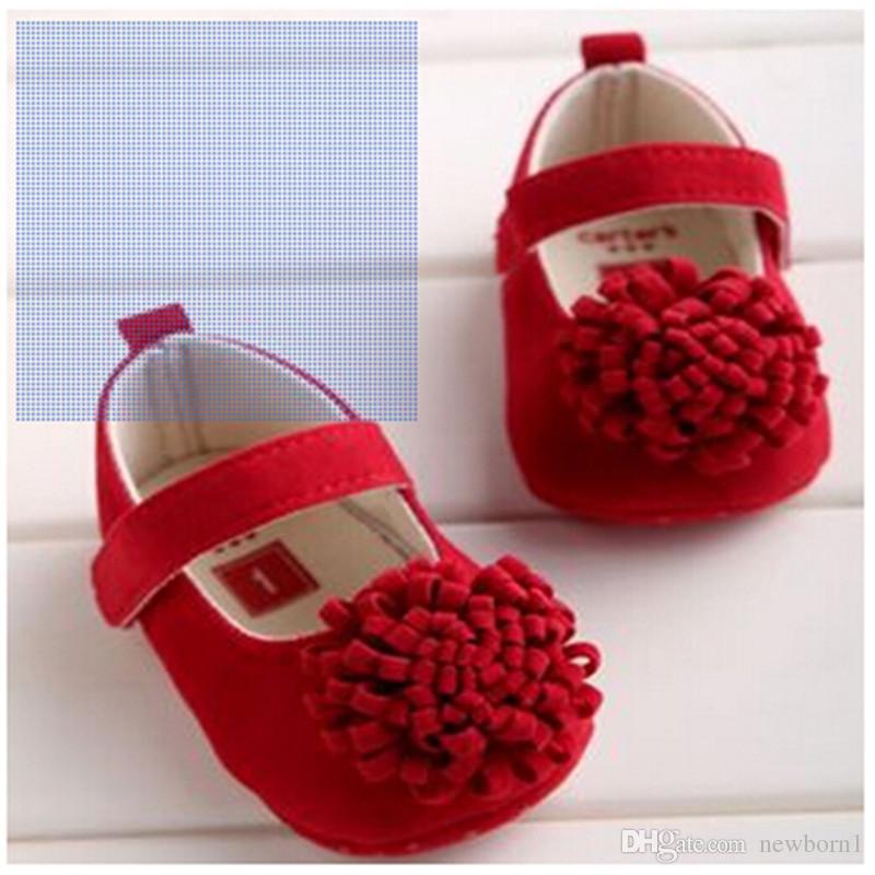 뜨거운 판매 새로운 도착 손수 부드러운 바닥 패션 Tassels 아기 신생아 신발 PU Prewalkers 아기 신발