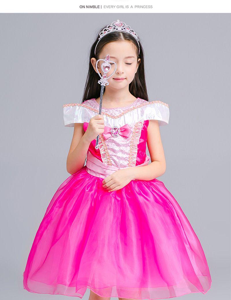 926fbbe33 2019 Sleeping Beauty Aurora Princess Dress Kids Halloween Costume ...