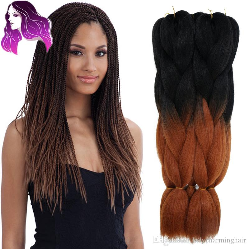Wholesale Black Brown Ombre African Box Hair Braiding Expression