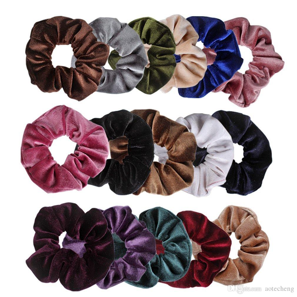 Velvet Scrunchies Hair Bobble Elastics Scrunchy Hair Bands Headbands Women  Scrunchies Bobbles Hair Ties Hair Products Sale Amazing Hair Products From  ... 35dd60ffe39