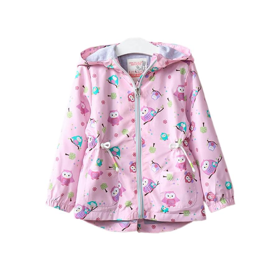 ee8e52f0b Cute Causal Girl Jacket Coat Graffiti Animal Owl Hooded Trench Coat ...