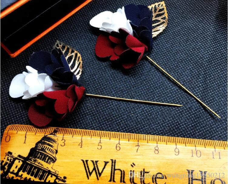 Trichromatic colours flowers brooches pins suit dress wedding brooch corsages for party presided stage gifts two styles
