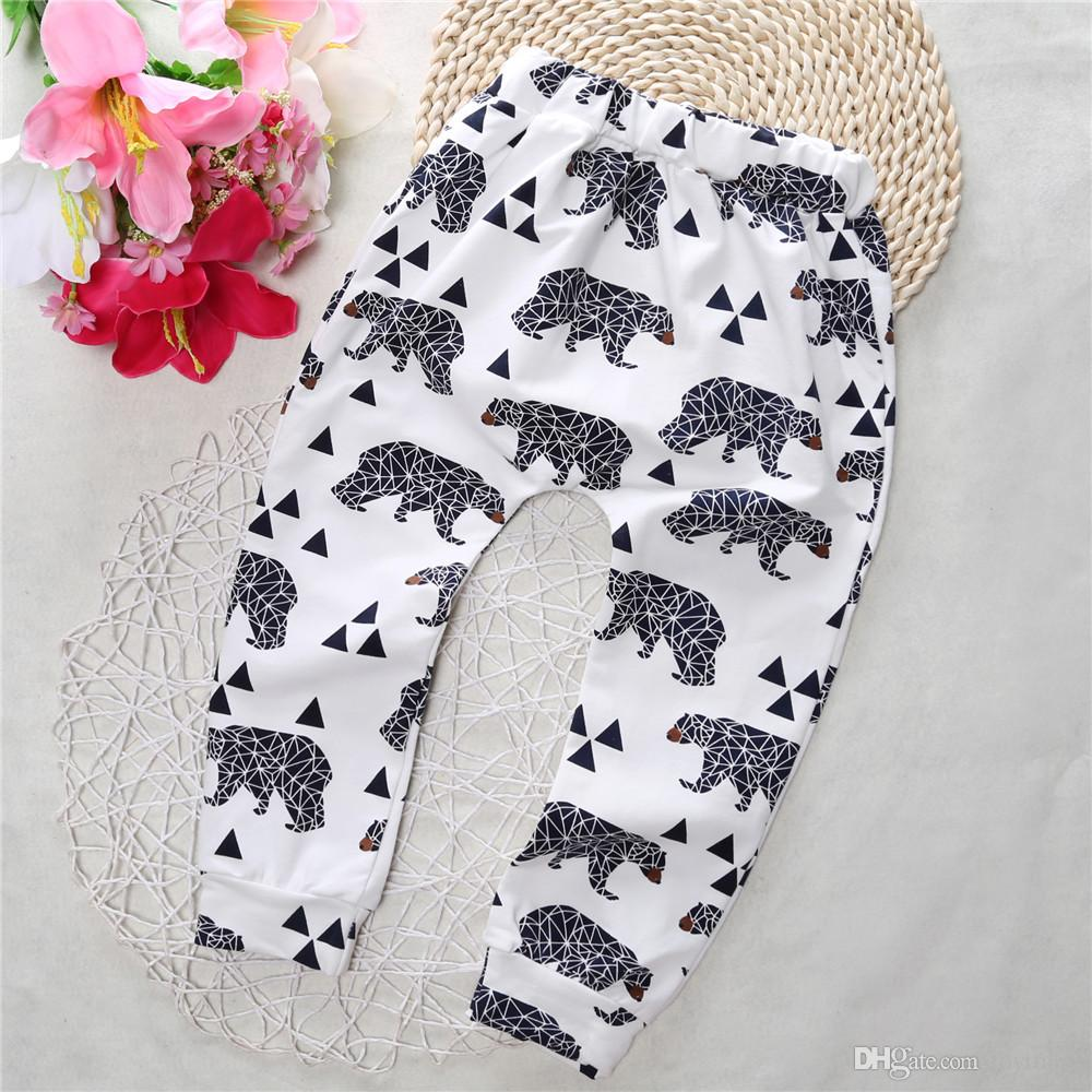 Quality Cartoon Fox Tiger Cat Batman Baby Pants Trousers Kids Boy Girl Cotton Tights Leggings Kids Toddler Panda Striped PP Pants