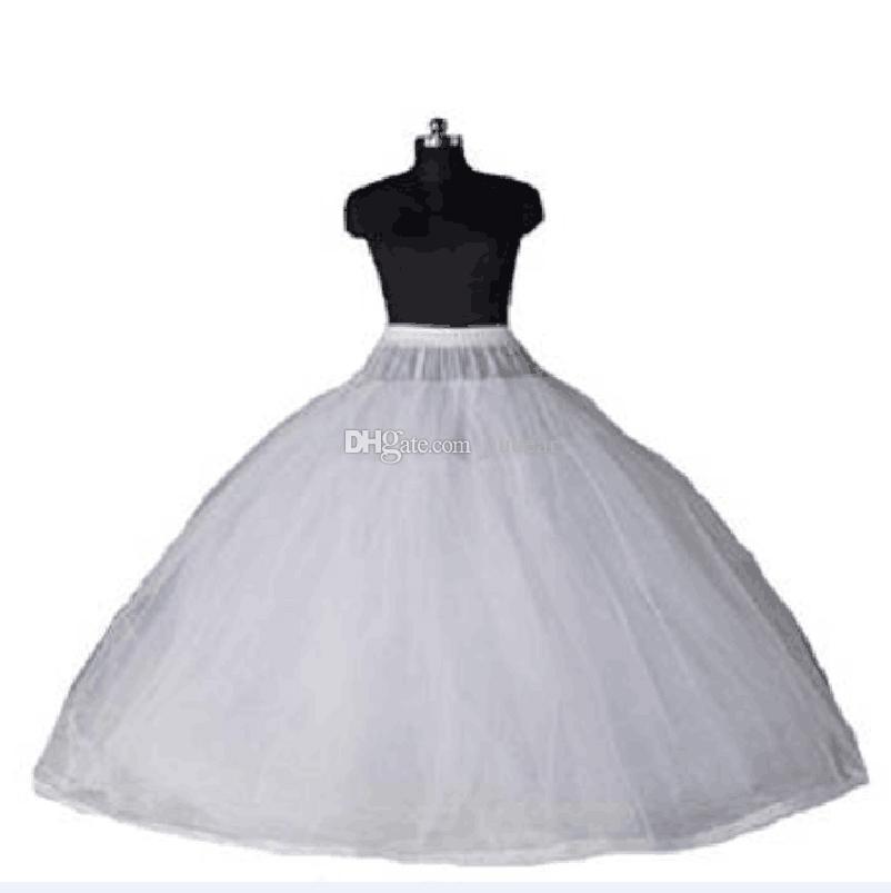 2020 Chegada Nova vestido de baile 8 camadas Tulle Sexy casamento Vestidos Petticoats sem aros de luxo Quinceanera Vestidos underskirt longo Crinoline