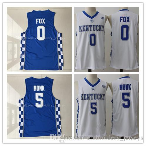 74659936bfb ... clearance top quality uk 0 de aaro 5 malik monk basketball jersey men  sports wear embroidered ...