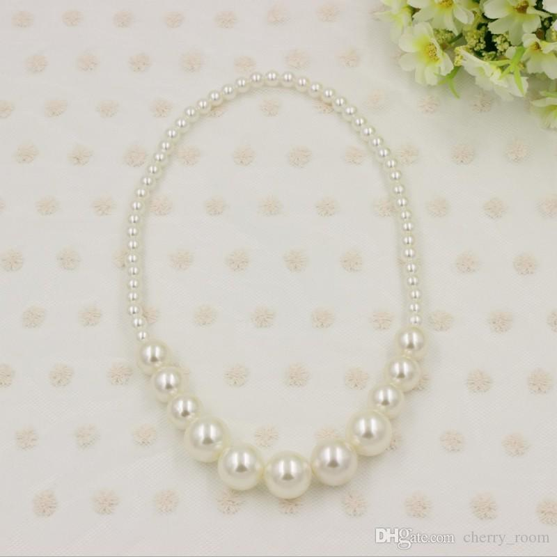 New Baby Girls Necklace Cute Pearl Princess Children Jewelry ...