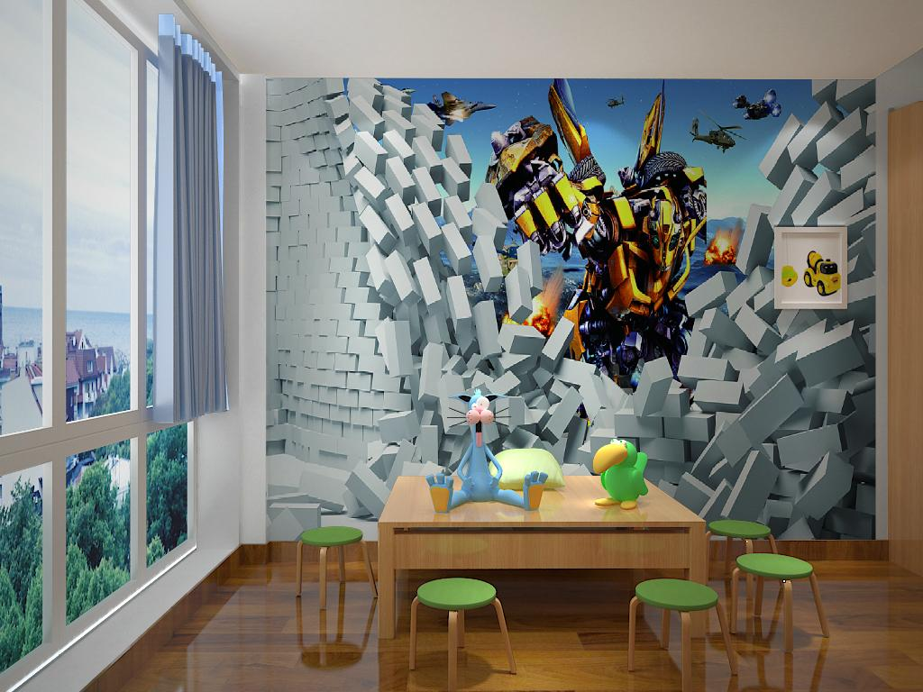 Mural Wall Stickers Cartoon Movie Transformers Childrenu0027S Room Custom Background Image Non Woven Tv Wall Factory Direct Delivery Speed Wall Decals For ... & Mural Wall Stickers Cartoon Movie Transformers Childrenu0027S Room ...