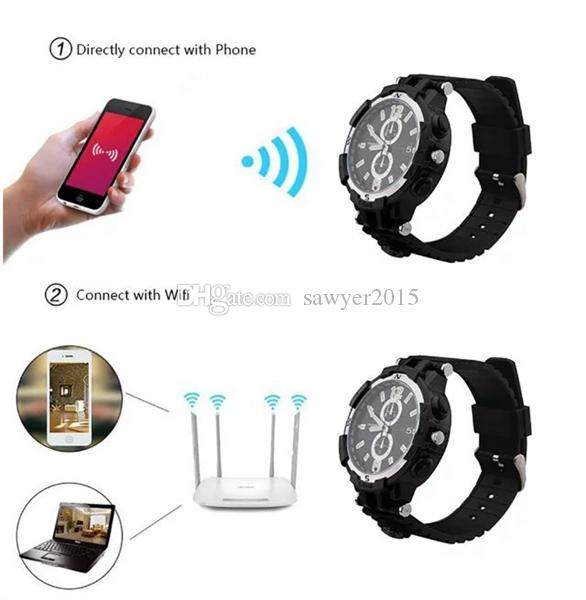 8GB 16GB Wireless WIFI Watch Netzwerk Kamera HD 720p Watch Videorecorder DVR Pinhole Camcorder mit Motion Detection IR Nachtsicht