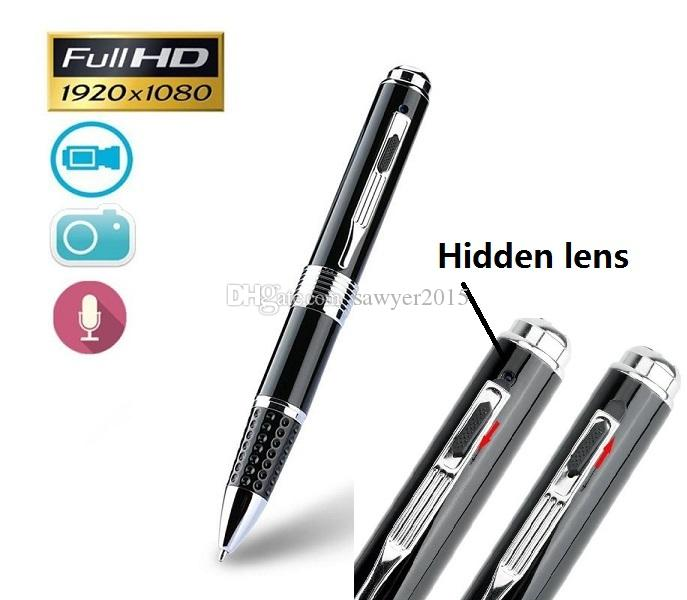 FULL HD 1080P mini pen pinhole camera AVI HD lens pen MINI DV DVR Digital Pen voice video recorder support TF Card