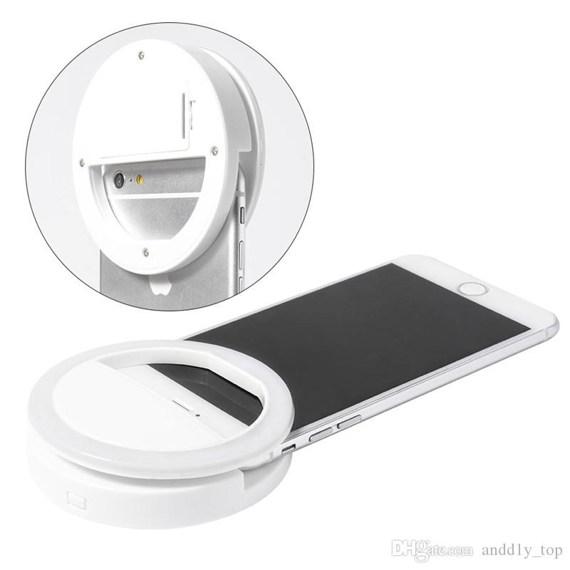 Fabricant charge LED flash beauté remplir selfie lampe extérieure selfie ring light rechargeable pour tout téléphone mobile