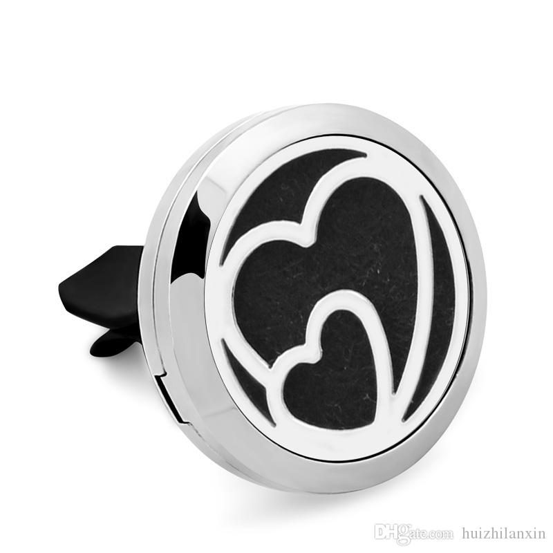3Style Love You 316L Stainless Steel Car Perfume Locket For 30MM Essential Oil Diffuser With Free Pads