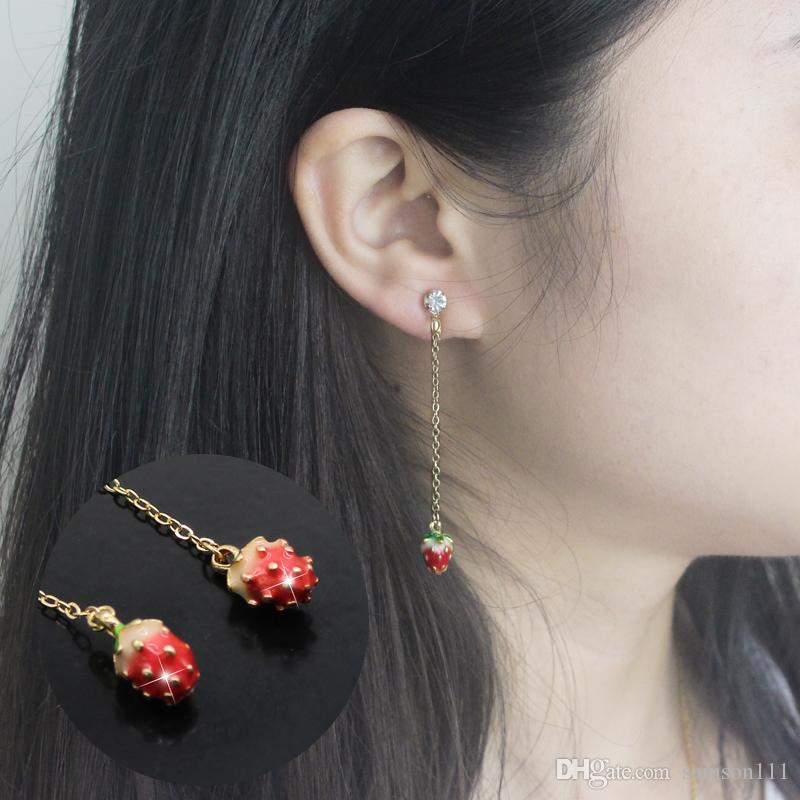 hornig stud jewelry joan earrings products strawberry joanhornigjewelry