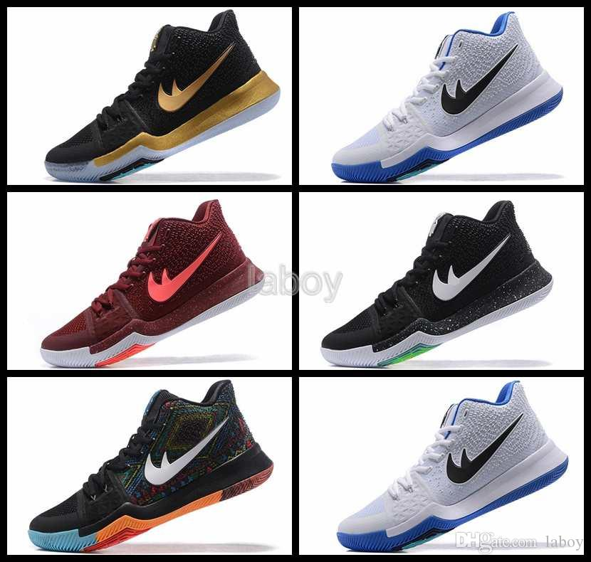 2017 Air Kyrie Irving 3 Iii Men Basketball Shoes,Black High Quality Sneakers  Mens Athletic Trainers Retro Sport Shoe 7 12 Shaq Shoes Kd Basketball Shoes  ...