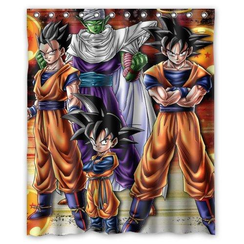 2018 Dragon Ball Z Custom Waterproof Shower Curtain 60x72 Inch Bath Curtains From Littleman913 3417