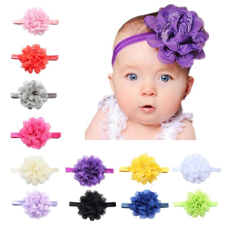 Großhandel Neugeborene Baby Hüte Blume Stirnband Baby Blume Kinder ...