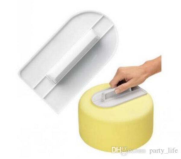 15 pz / lotto, strumenti di cottura della torta del fondente lucidatore strumento di decorazione della torta fai da te stampo dispositivo di screeding di superficie la macinazione