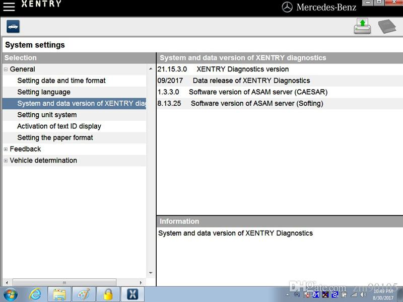 09/2017 MB C4 SD Connect Sistema de Diagnóstico Star com Vediamo DTS Monaco8 e X200T Laptop para MB STAR C4 Xentry Diagnostic-Tool