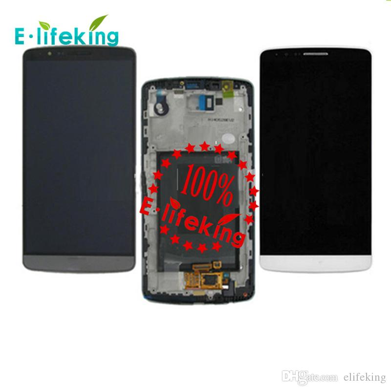 Original LCD Best Quality For LG G3 D855 D850 LCD Display Touch Screen Digitizer Assembly Replacement with & without Frame