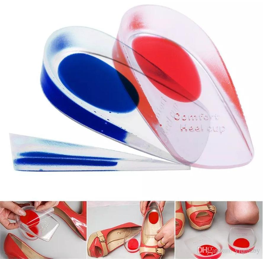 Good Quality Silicone Gel Height Insoles Massager for Shoes, PU Comfort Heel Cup Cushion Heel Pad Foot Care Cups for Men/Women