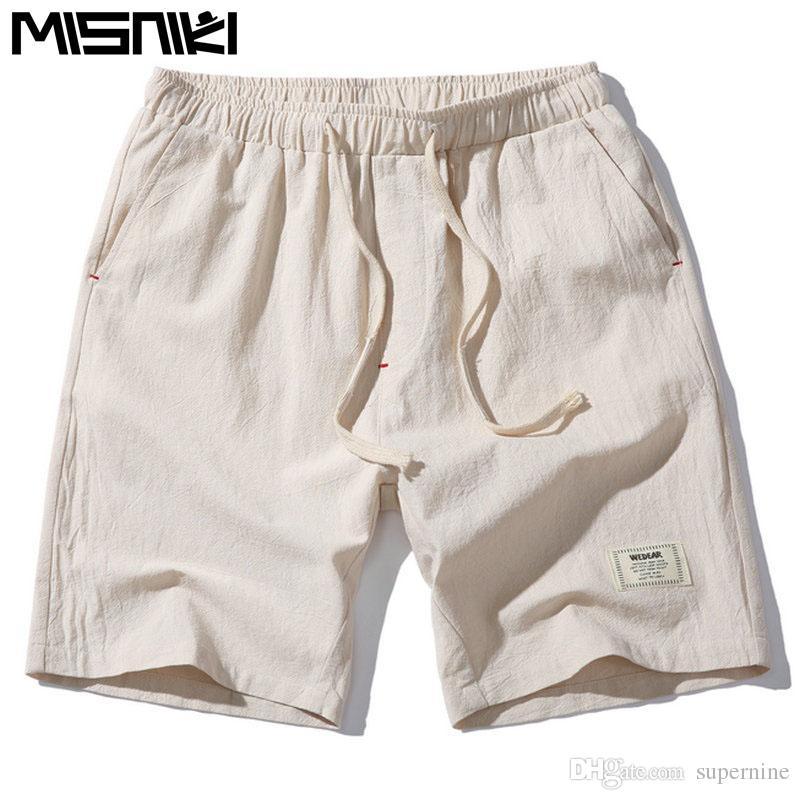 18ef27c704e9 2019 MISNIKI 2017 Hot Fashion Men Short Pants Summer Linen Men Shorts Asian  Size From Supernine