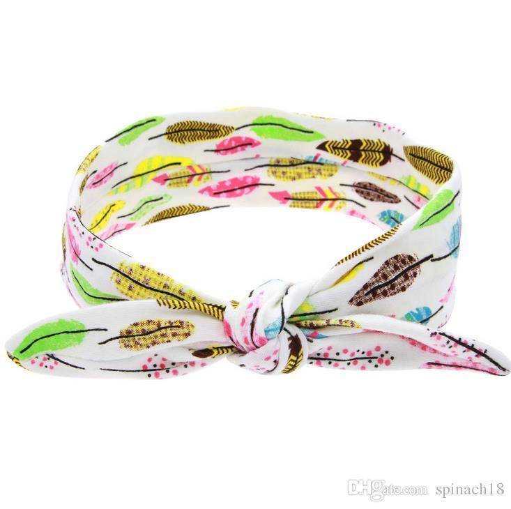 Cute Headbands Baby Girls DIY Baby Rabbit Ear Hair Band Elastic Bow Headband Headwear For Newborn Infant Toddler Hair Accessories