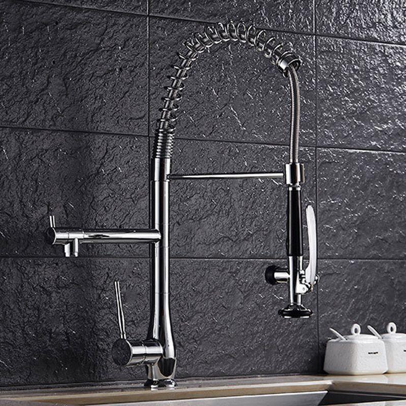 2019 New Upgrade Luxury Commercial Gooseneck Kitchen Sink Faucet