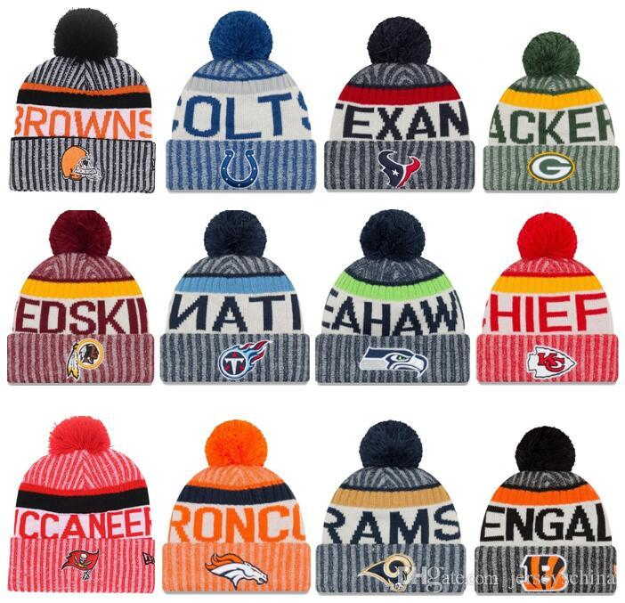 2019 Newest Winter Beanies Knitted Hats All Teams Baseball Football  Basketball Beanies Sports Team Women Men Popular Fashion Winter Hat From  Jerseyschina d896087b9e4