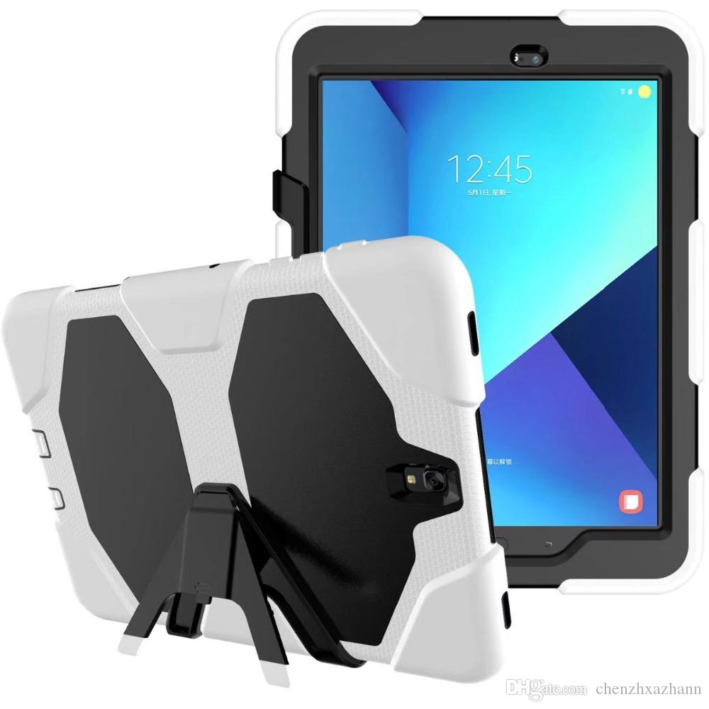 for ipad 5 New Version Hybrid Armor Waterproof Shockproof Dustproof Kids Safe Stand silicon Case for ipad5 Cover For ipad Air1 Shell+pen