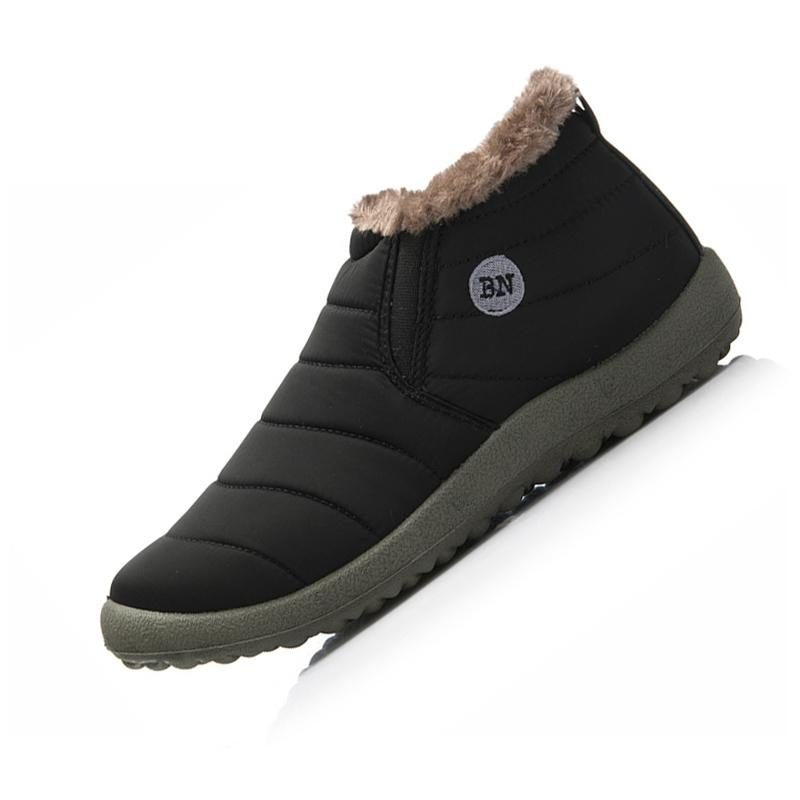 Wholesale 2016 New Fashion Women Men Winter Shoes Ankle Snow Boots Plush  Inside Antiskid Bottom Keep Warm Father Shoes Plus Size 48 Work Boots Knee  High ... 60451482afb
