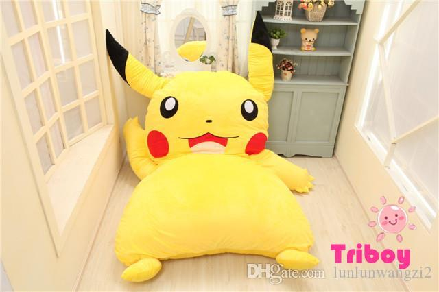 2019 Large Size 220cmx150cm Pikachu Cartoon Stuffed