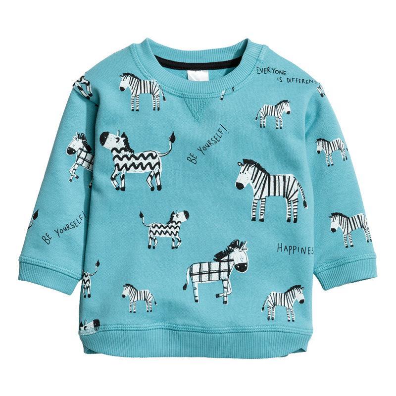 e879daa777 Großhandel Junge Langarmshirt Kinder Kleidung Baumwolle Herbst T Shirts  Kinder Drucken Tiere Pullover Boy Cartoon Pullover Von Yokilan, $30.16 Auf  De.