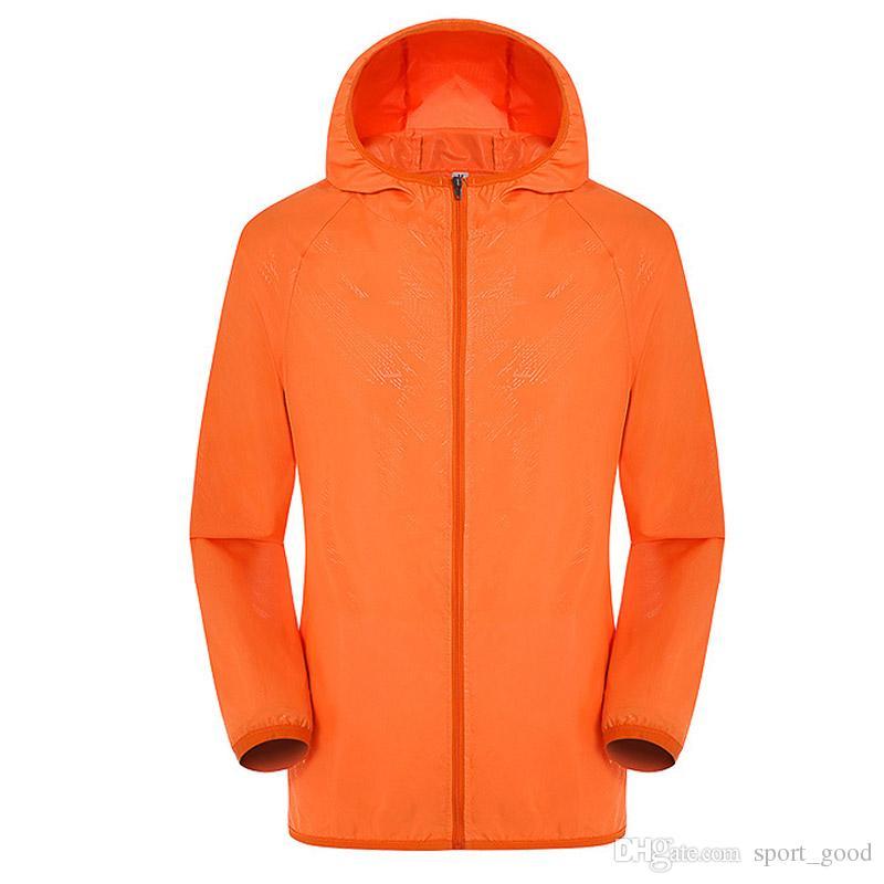 Erkekler Kadınlar Çabuk Kuru Yürüyüş Ceket Su Geçirmez Güneş Koruma Anti-Uv Mont Açık Spor Cilt Ceketler Yağmur Ceketler Giymek
