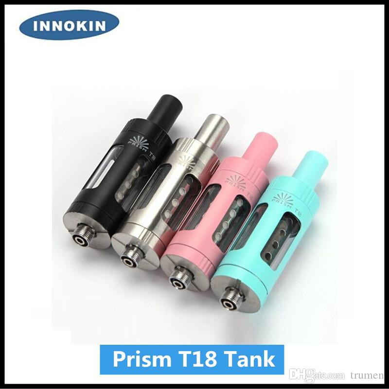 100% Original Innokin Endura Prism T18 Tank 2.5ml Top Filling with 1.5ohm Replaceable Coil Prism T18 Stainless Steel Tank DHL Free