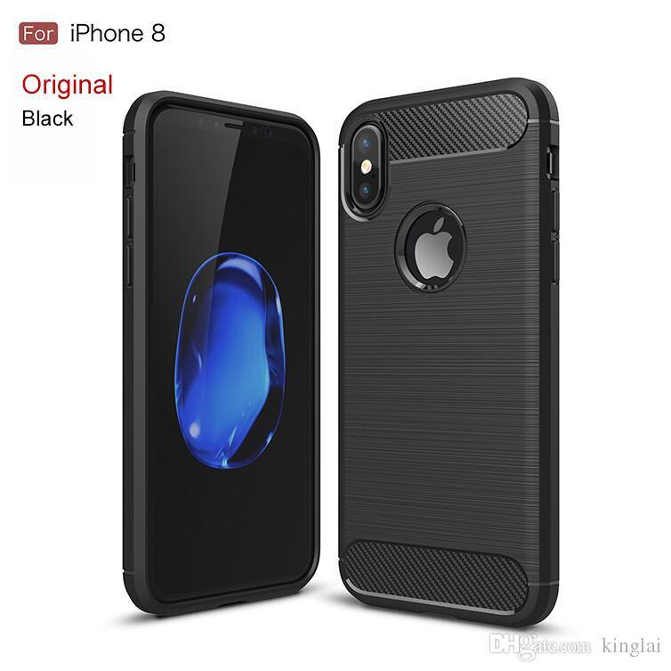 e85d95e1e7c Accesorios Para Smartphone Para Iphone 8 Case 6 7plus 5s SE Teléfono Móvil  Shell Fibra De Carbono Dibujo Tpu Todo Incluido Apple 8 Funda Protectora  Carcasas ...