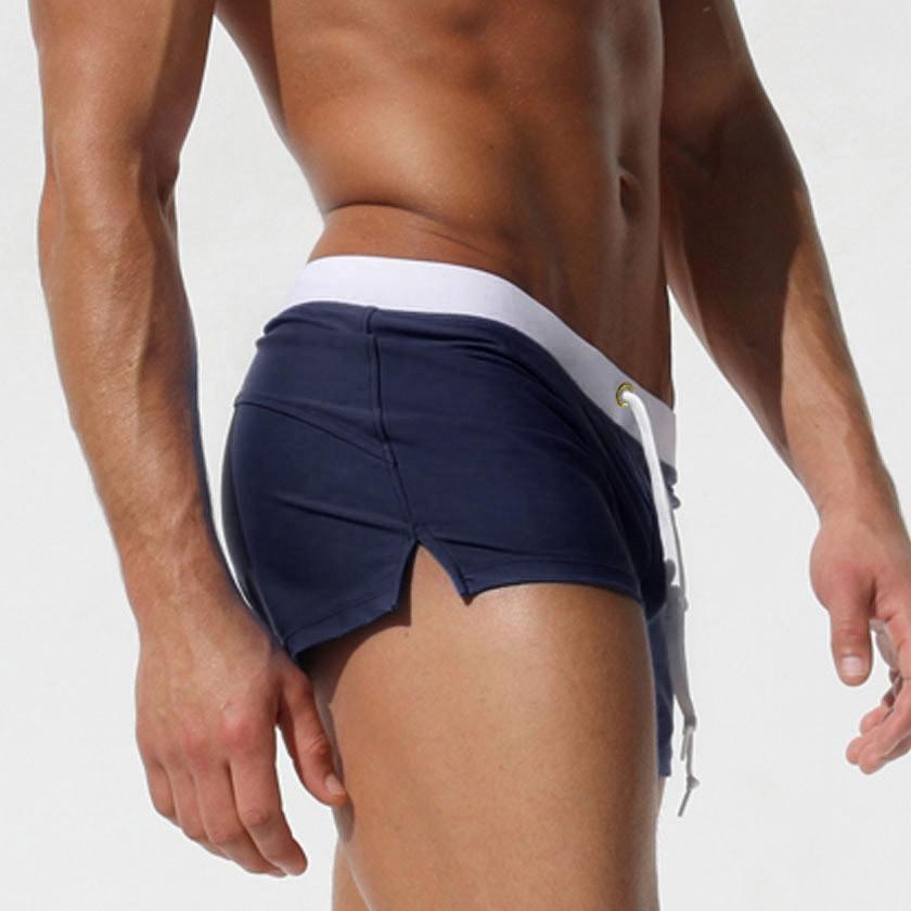 Maillots de bain sexy pour hommes Boxer Board Shorts Trunks Homme Surf Bikini Maillots de bain pour hommes Maillots de bain Gay Pénis Pouch WJ