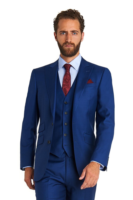 2017 Custom made erkeğin düğün üç adet smokin Notch yaka Damat Smokin akşam Düğün iyi adam düğün için Suits ceket + pantolon + yelek