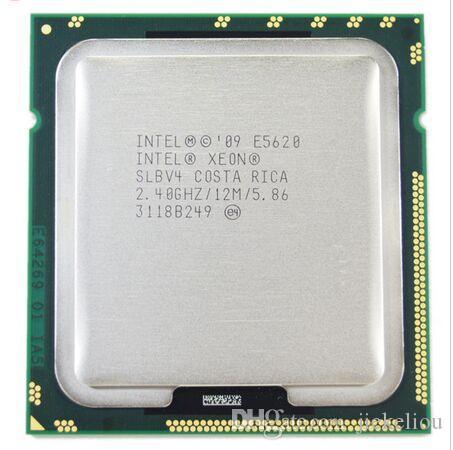 E5620 Processore del processore CPU Intel Xeon E5620 Quad 2.4GHz 12.5B 5.86GT / s SLBV4 LGA1366 originale