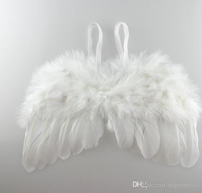 Newborn Baby Wings Costume Photo Angel Prop Outfits Angel Feather Wings Wraps kids cosplay props gift several colors for chose