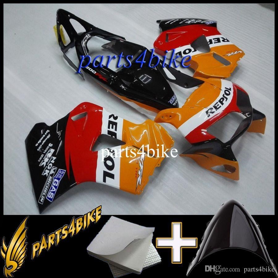 ABS Fairing for Honda VFR800 98 01 VFR800 1998 2001 98 99 00 01 repsol red black Motorcycle Body Kit