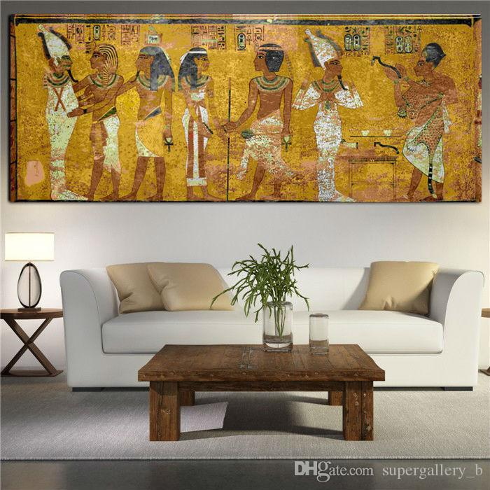 2018 Famous Gustav Klimt Egyptian Painting,Handpainted Abstract Portrait  Art Oil Painting Home Decor On High Quality Canvas Size Can Customized From  ...
