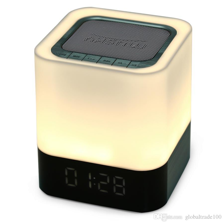 MUSKY DY28 Portable Wireless Bluetooth Stereo Speaker Support AUX Audio  Input Handsfree Call LED Shinning Time Clock Alarm Mode DY 28