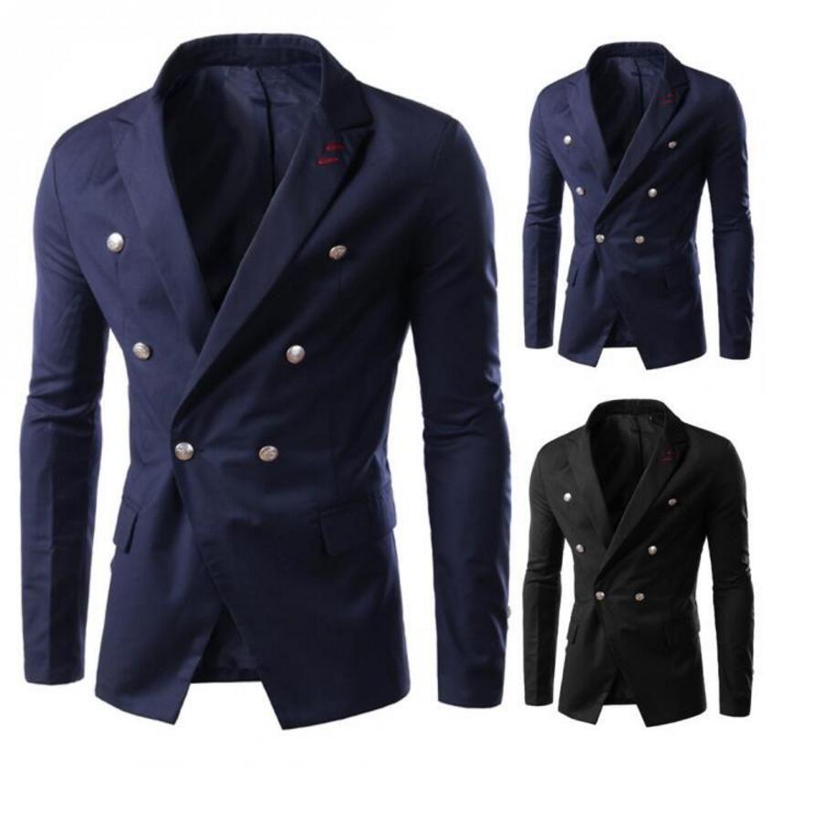 Fashion Men Suit Jacket High Quality Long Sleeves Gentleman Lapel