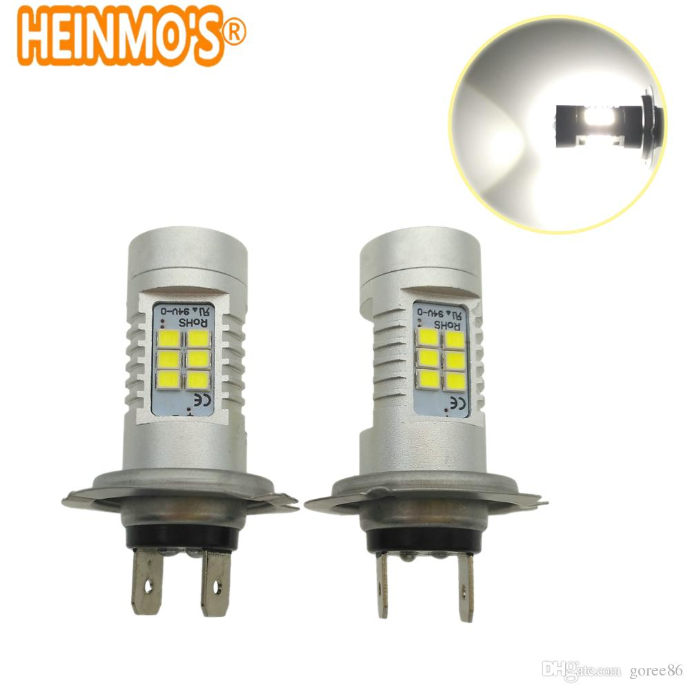 2pcs H3 Led Bulb Car Fog Lights High Power Lamp 5630 Smd Daytime Running Auto Leds Bulbs Car Light 12v 6000k White Yellow Amber Buy One Get One Free Automobiles & Motorcycles Car Lights