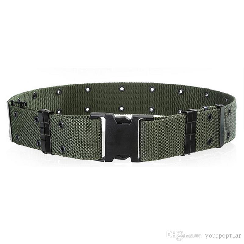 Men's Wide Tactical Belts Plastic Insert Buckle Military Nylon Outdoor Hiking Mountain Camouflage Designer Belts Army Tactical Belts for Men