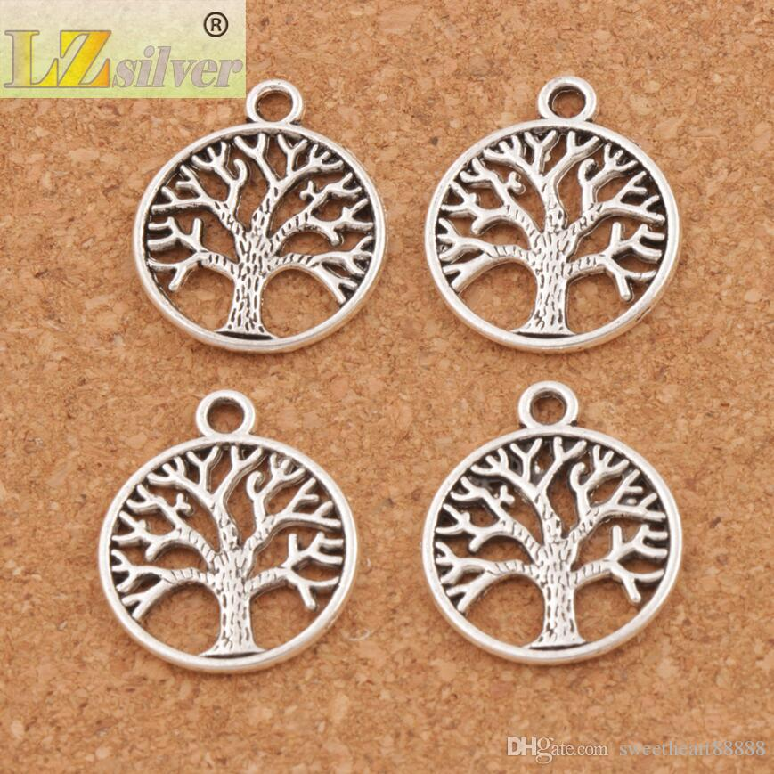 Family Tree Of Life Charms Pendants Antique Silver/Bronze/Gold Jewelry DIY L463 20x23.5mm Hot